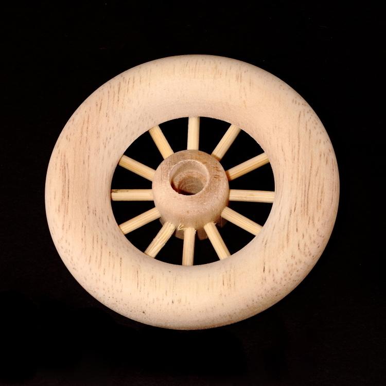 Spoke Wheel - 2 3/4 Diameter - 1/4 Hole - Axle Pegs Included [SW